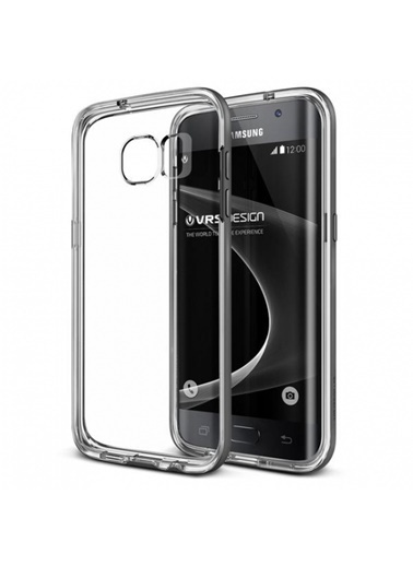 Galaxy S7 Edge Crystal Bumper Kılıf Steel Silver-Verus